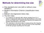 methods for determining tree size