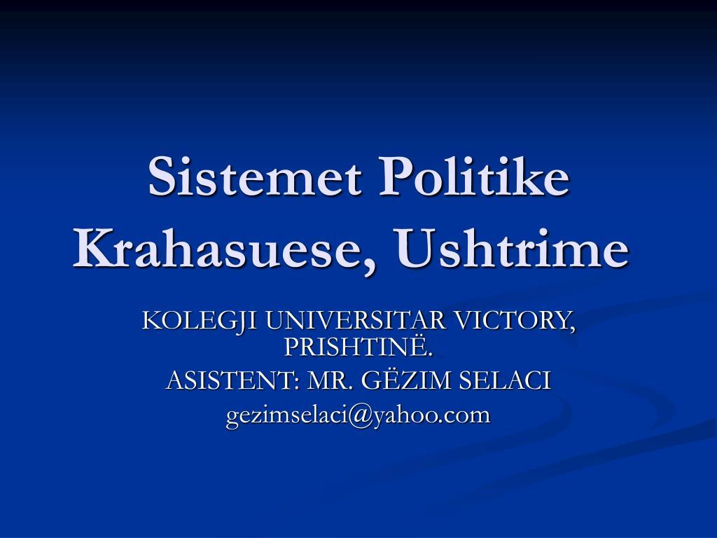 sistemet politike krahasuese ushtrime l.