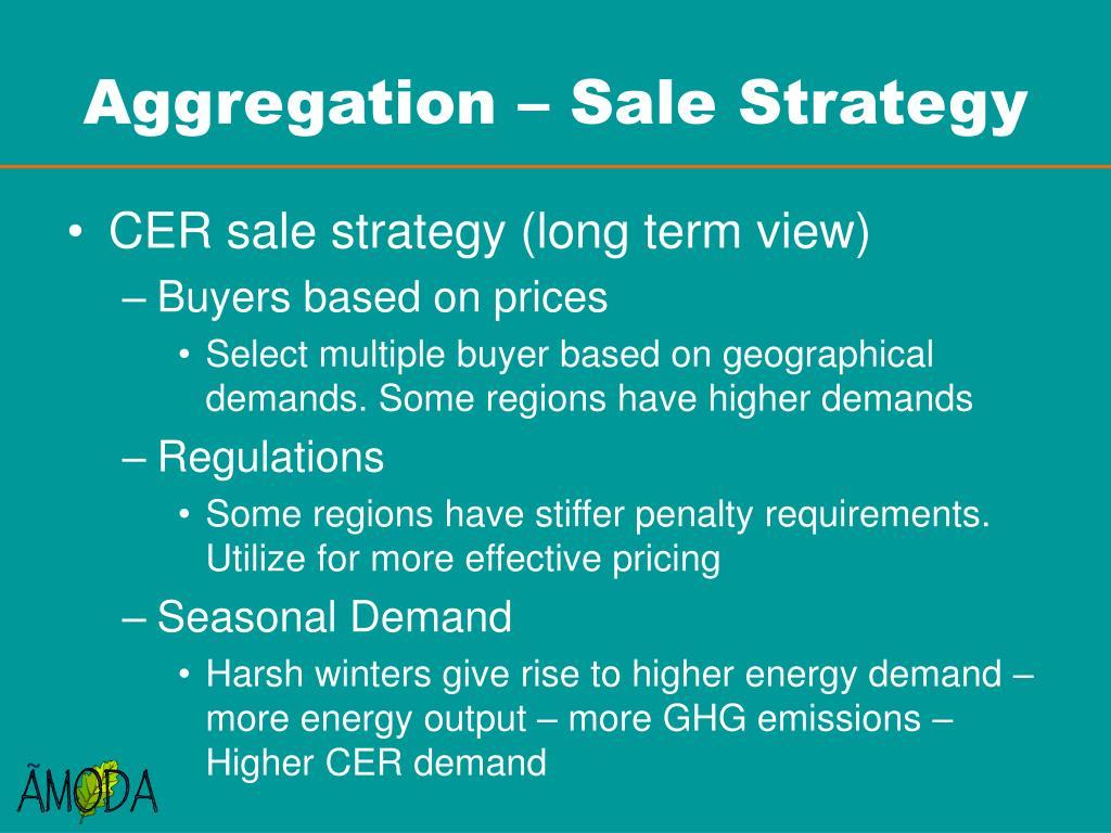 Aggregation – Sale Strategy