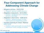 four component approach for addressing climate change