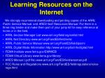 learning resources on the internet