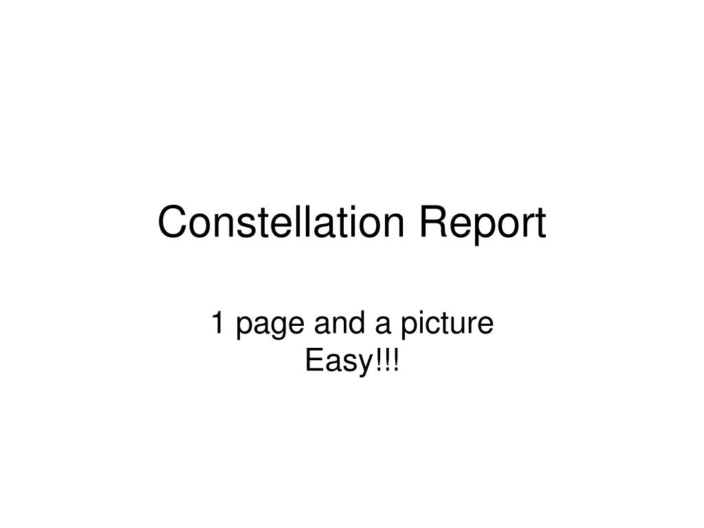 constellation report l.
