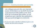 c 2 5 1 7 communication personnelle