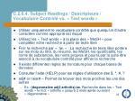 c 2 6 4 subject headings descripteurs vocabulaire contr l vs text words
