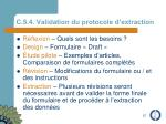 c 5 4 validation du protocole d extraction