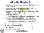 why we monitor