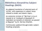 bibliotheca alexandrina subject headings bash
