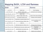 mapping bash lcsh and rameau