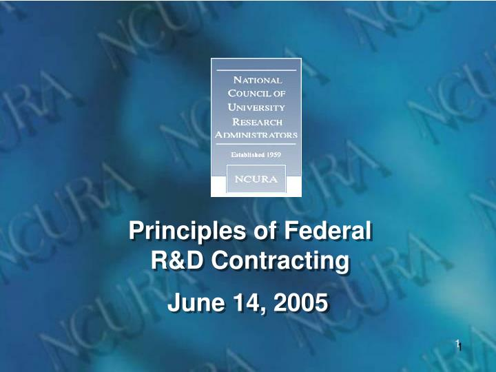 principles of federal r d contracting n.