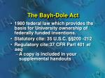 the bayh dole act