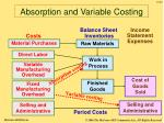 absorption and variable costing47