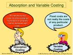 absorption and variable costing48