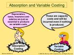 absorption and variable costing49