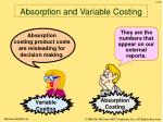 absorption and variable costing50