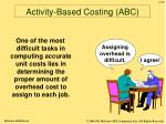 activity based costing abc52