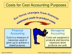 costs for cost accounting purposes