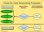costs for cost accounting purposes10