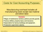 costs for cost accounting purposes14