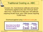 traditional costing vs abc