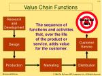 value chain functions