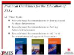 practical guidelines for the education of ells4