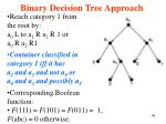 binary decision tree approach49
