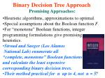 binary decision tree approach53