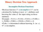 binary decision tree approach56