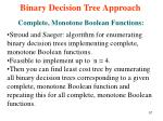 binary decision tree approach57