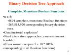 binary decision tree approach61