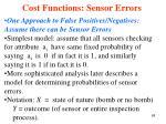 cost functions sensor errors