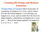 counting bit strings and boolean functions21