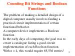 counting bit strings and boolean functions31