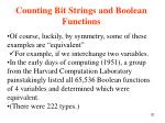 counting bit strings and boolean functions32