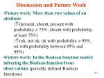 discussion and future work121