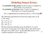 modeling sensor errors95