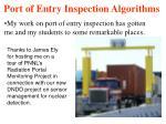 port of entry inspection algorithms14