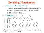 revisiting monotonicity