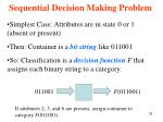 sequential decision making problem36