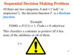 sequential decision making problem37