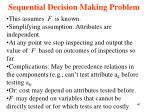 sequential decision making problem40