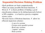 sequential decision making problem41