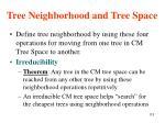tree neighborhood and tree space113