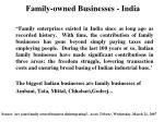 family owned businesses india