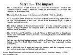 satyam the impact