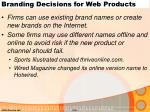 branding decisions for web products