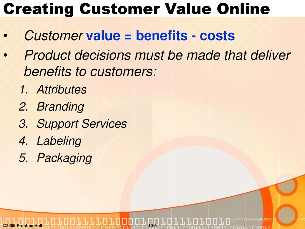 Creating Customer Value Online