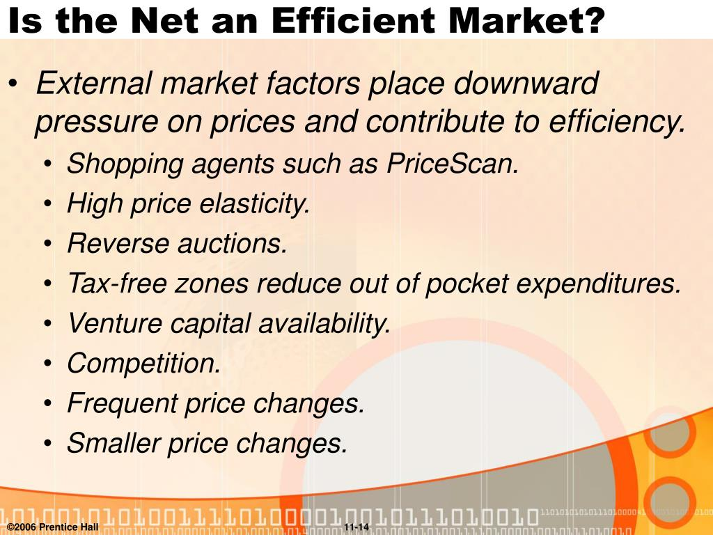 Is the Net an Efficient Market?