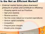 is the net an efficient market