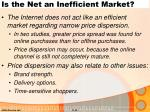 is the net an inefficient market